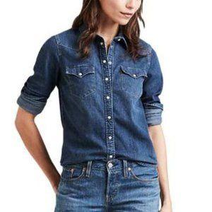 NWT! Lauren Ralph Lauren Western Denim Shirt